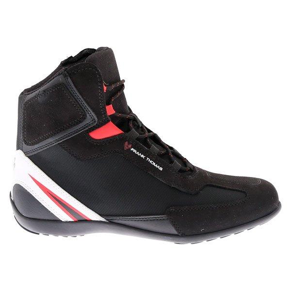 Frank Thomas Viper Short Boots Black Red Size: UK 4