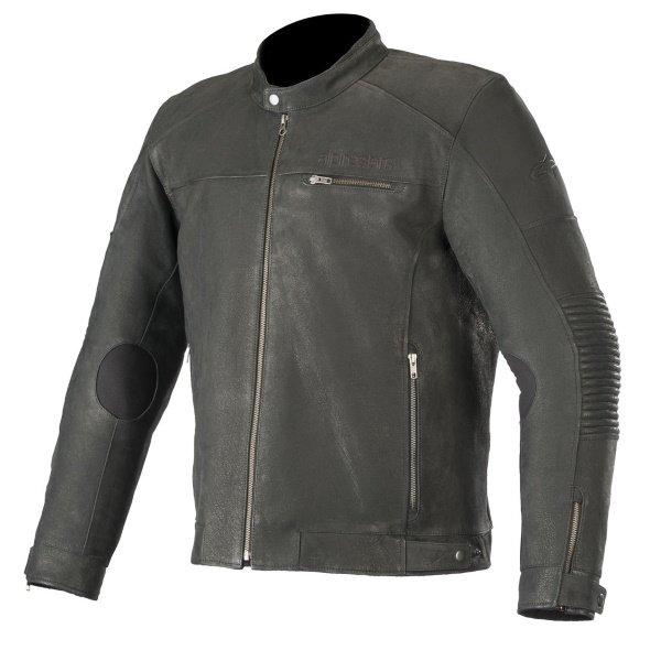 Alpinestars Warhorse Black Leather Motorcycle Jacket Front