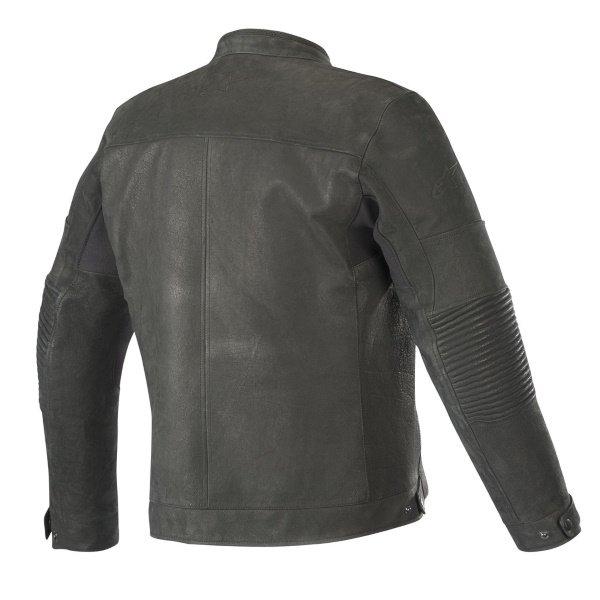 Alpinestars Warhorse Black Leather Motorcycle Jacket Back