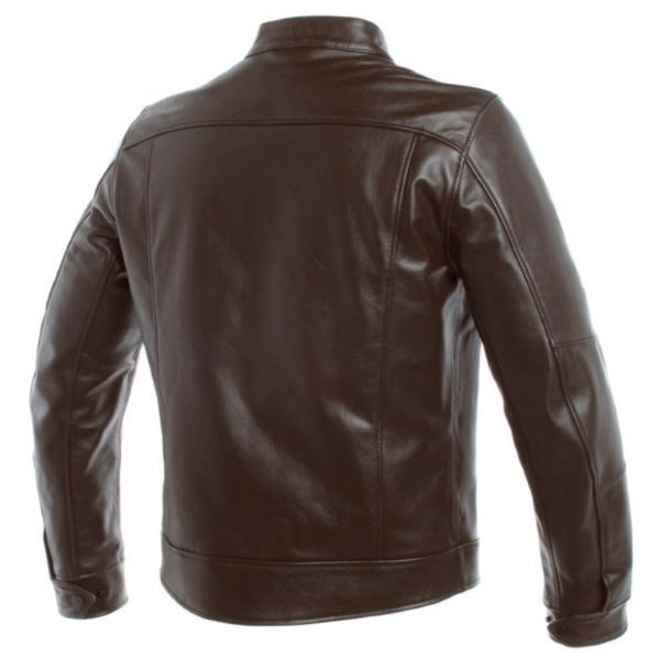 Dainese AGV 1947 Brown Leather Motorcycle Jacket Back