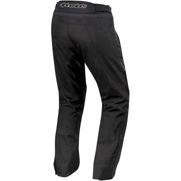 Alpinestars AST-1 Waterproof Black Textile Motorcycle Pants Rear