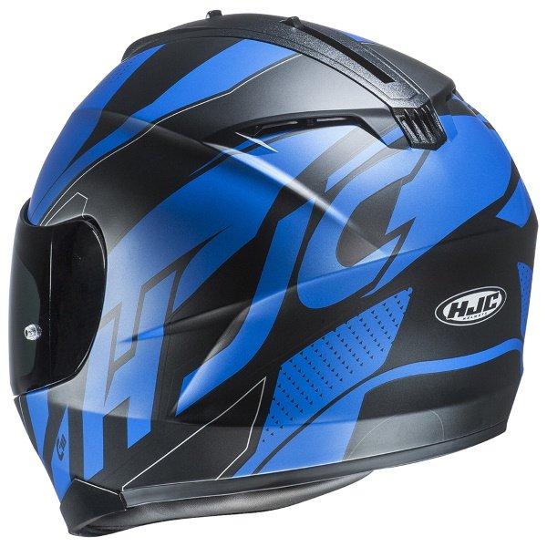HJC C70 Boltas Blue Full Face Motorcycle Helmet Back Left