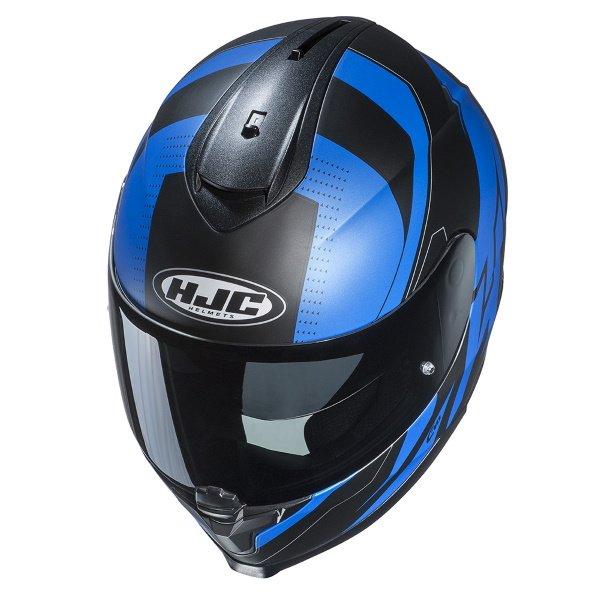 HJC C70 Boltas Blue Full Face Motorcycle Helmet Top