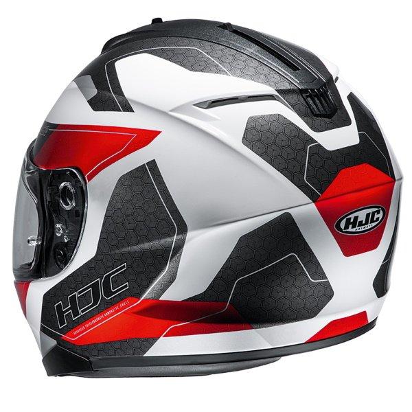 HJC C70 Canex Red Full Face Motorcycle Helmet Back Left