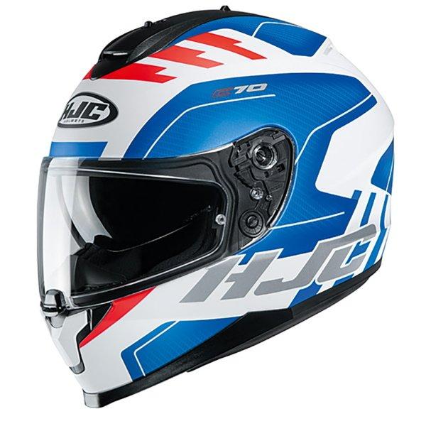 C70 Koro Helmet Red White Blue