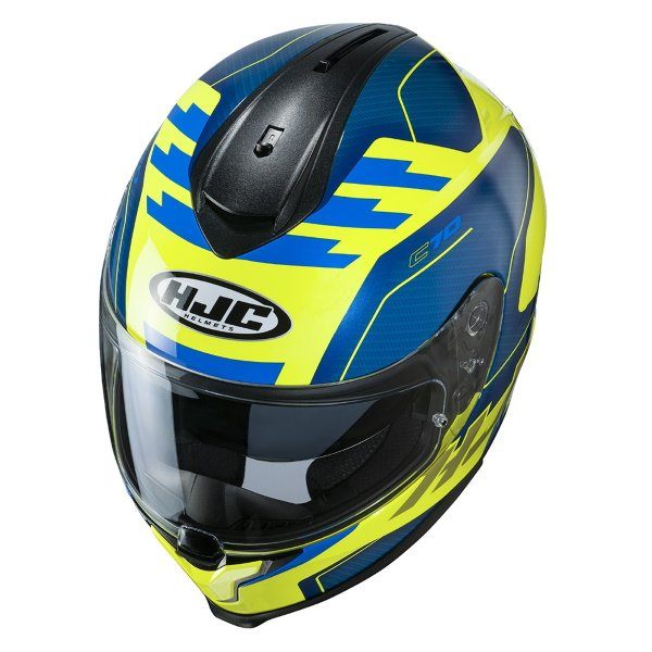 HJC C70 Koro Yellow Full Face Motorcycle Helmet Top