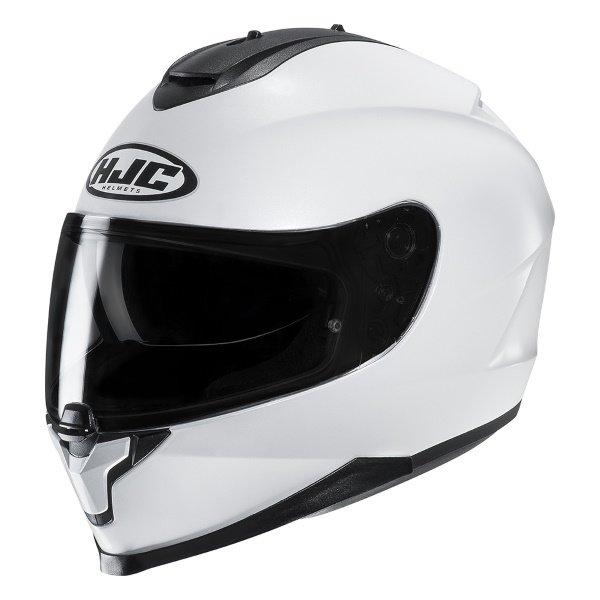 HJC C70 White Full Face Motorcycle Helmet Front Left