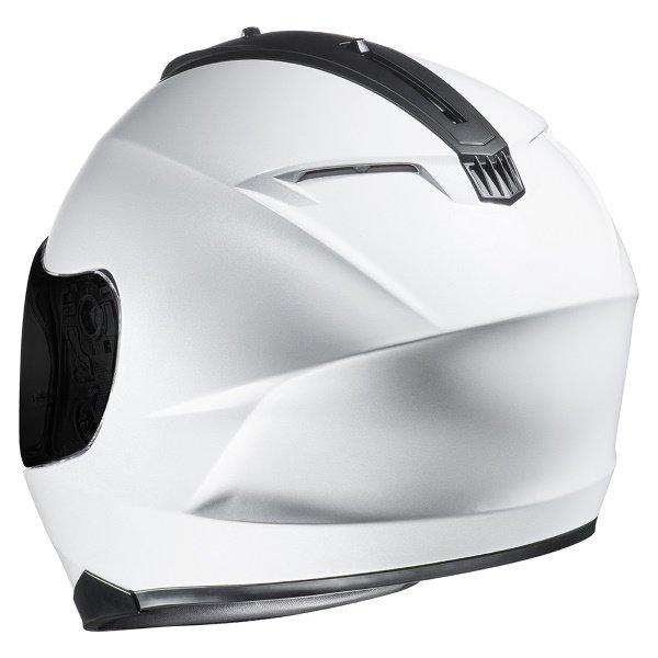 HJC C70 White Full Face Motorcycle Helmet Back Left