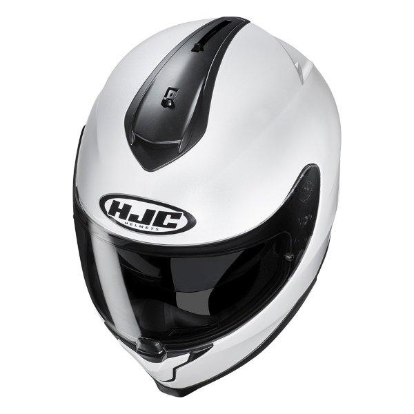HJC C70 White Full Face Motorcycle Helmet Top