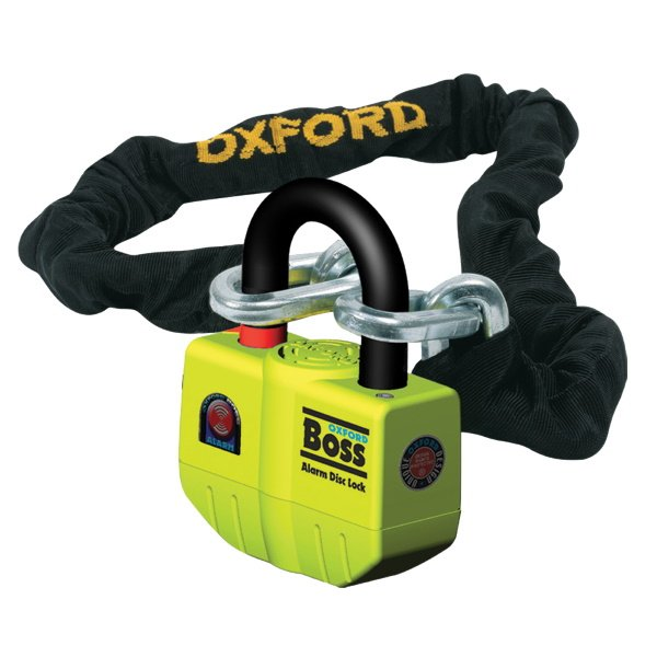 Oxford Products Boss Alarm 12mm x 1.5m Motorcycle Chainlock