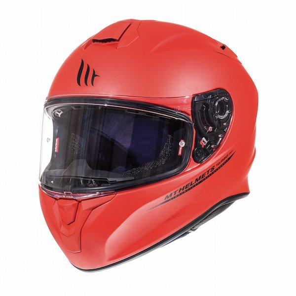 Targo Helmet Matt Red Motorcycle Helmets