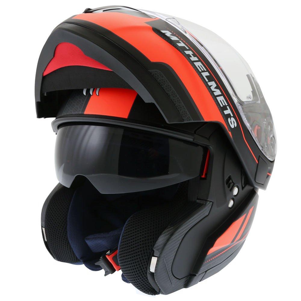 Atom SV Raceline Helmet Matt Black Orange Motorcycle Helmets
