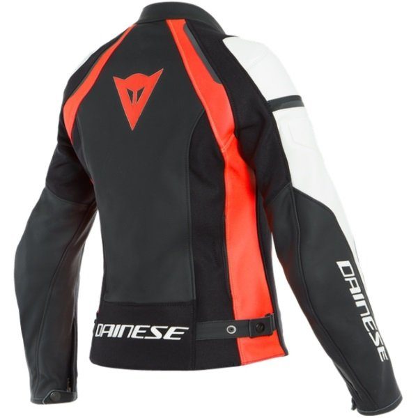 Dainese Nexus Lady Womens Black Fluo Red White Textile Motorcycle Jacket Back