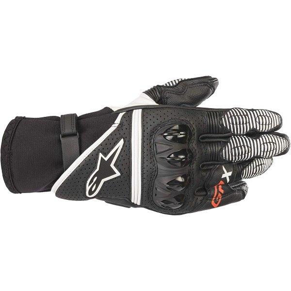 Alpinestars GP X V2 Black White Motorcycle Gloves Back