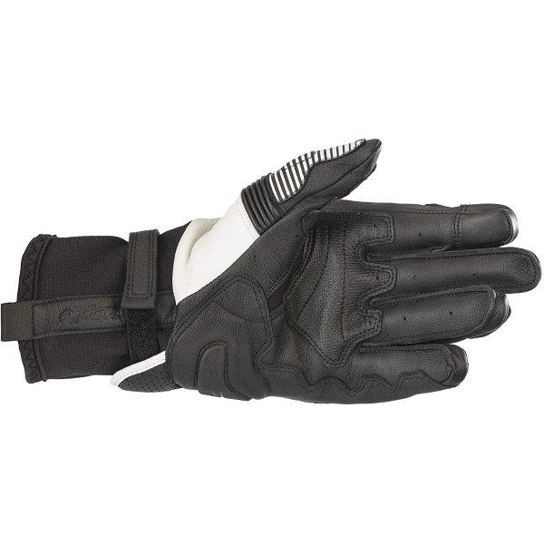 Alpinestars GP X V2 Black White Motorcycle Gloves Palm