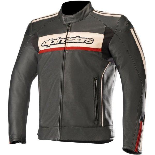 Alpinestars Dyno V2 Black Leather Motorcycle Jacket Front