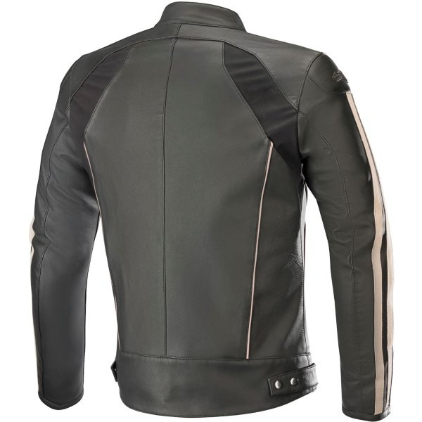 Alpinestars Dyno V2 Black Leather Motorcycle Jacket Back