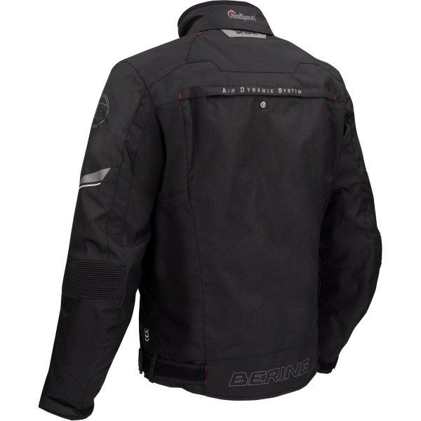 Bering Zodd Black Textile Motorcycle Jacket Back