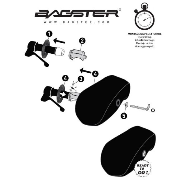 Bagster XMA010 Exxel Black Motorcycle and Scooter Muffs Instructions