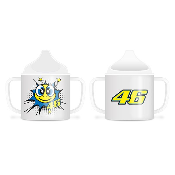 VR46 Pop Art White Baby Cup