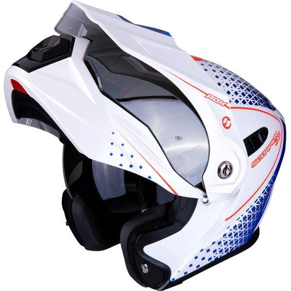 ADX-1 Horizon Helmet White Red Blue Scorpion Helmets