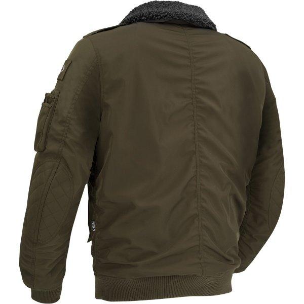 Segura Mitchell Khaki Textile Motorcycle Jacket Back