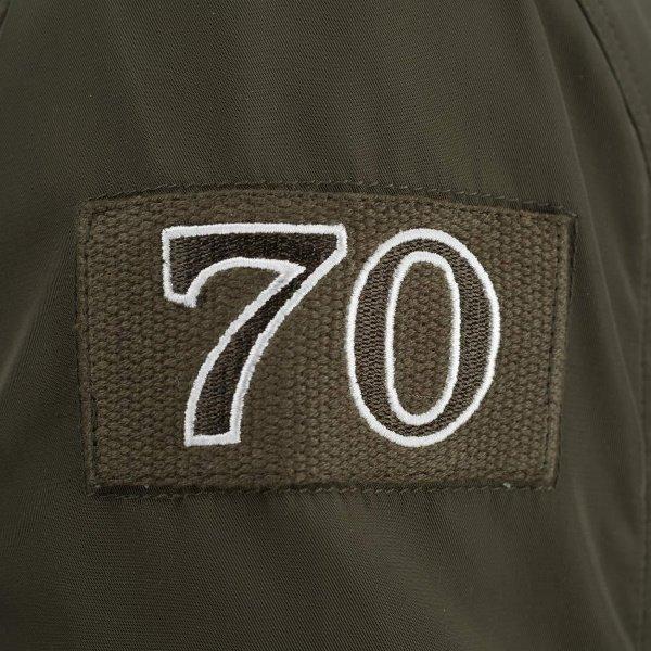 Segura Mitchell Khaki Textile Motorcycle Jacket Right Shoulder Detail