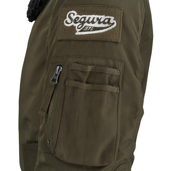 Segura Mitchell Khaki Textile Motorcycle Jacket Left Arm Detail
