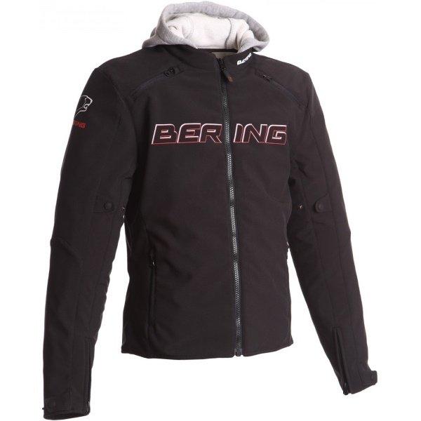 Bering JAAP Evo Black Red Textile Motorcycle Jacket Front