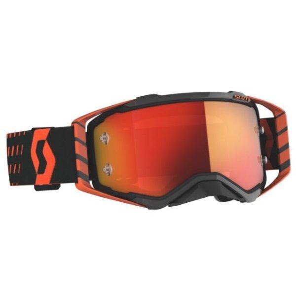 Prospect Goggles Orange Black Orange Chrome Motocross