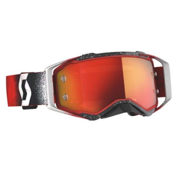 Prospect Goggles White Red Orange Chrome Motocross