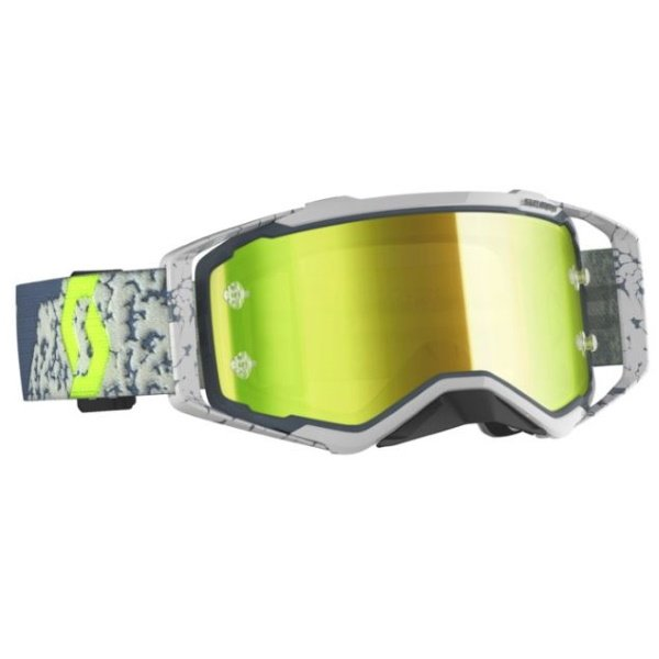Prospect Goggles Grey Dark Grey Yellow Chrome Motocross