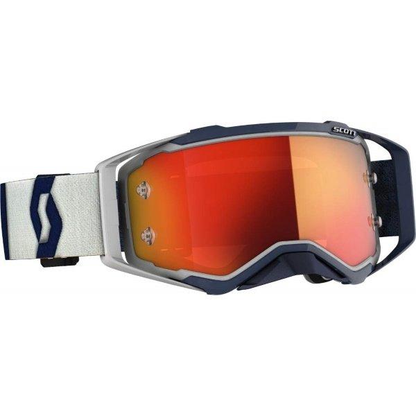 Prospect Goggles Grey Dark Blue Orange Chrome Motocross