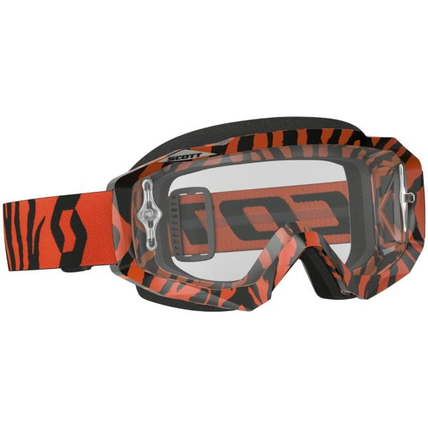 Hustle MX Goggles Black Fluo Orange Clear Scott