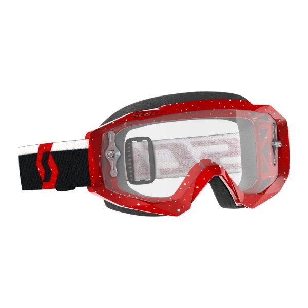 Hustle X MX Goggles Red White Clear