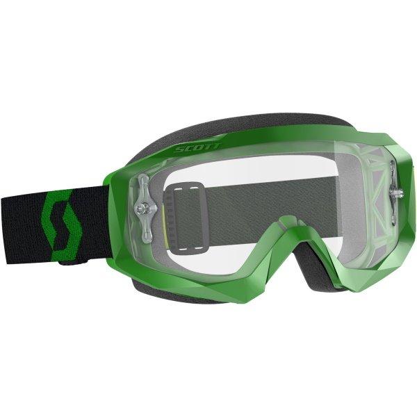 Hustle X MX Goggles Green Black Clear Scott