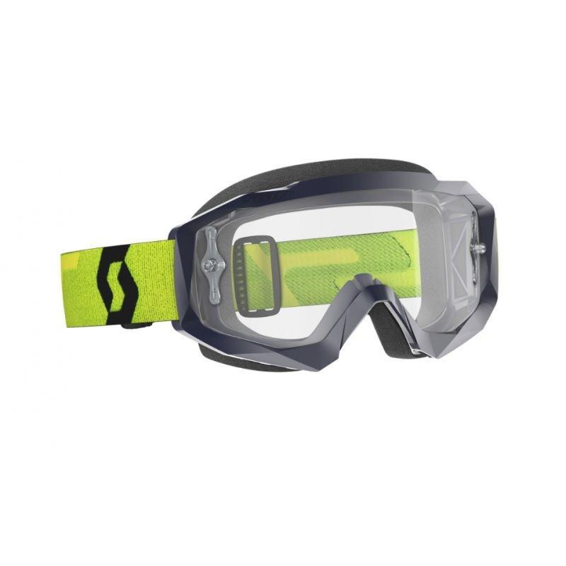 Hustle X MX Goggles Yellow Blue Clear