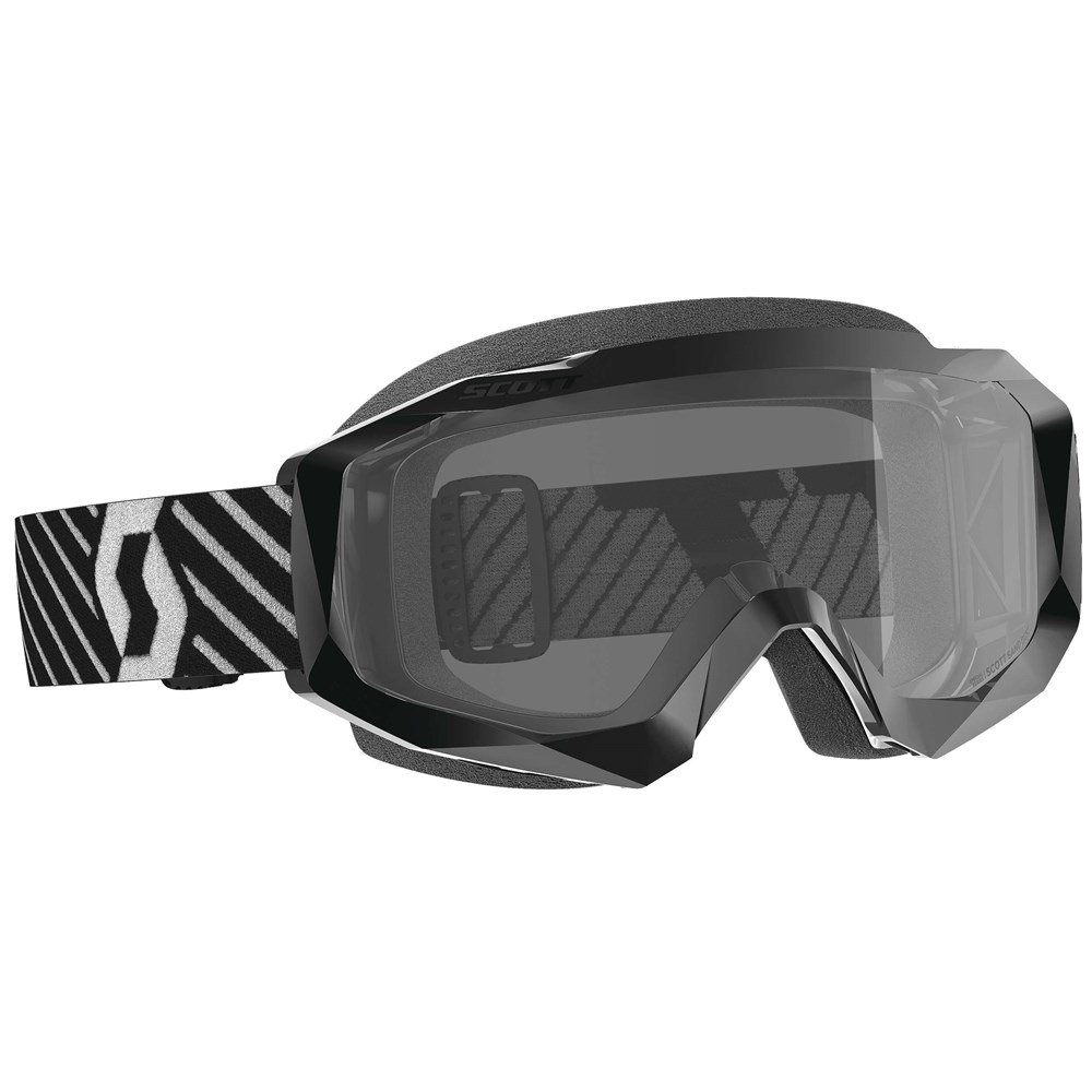 Hustle X MX Sand Goggles Black White Grey Motocross Goggles