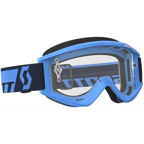 Recoil XI Goggles Blue Silver Chrome Scott