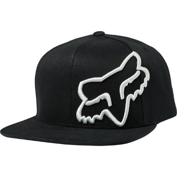 Fox Headers Black Snapback Hat Front