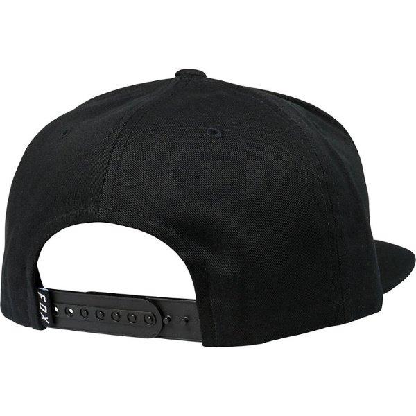 Fox Headers Black Snapback Hat Back