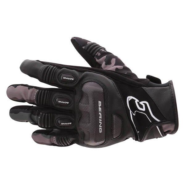 Bering Derreck Black Camo Motorcycle Gloves Back