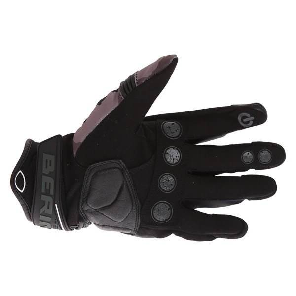 Bering Derreck Black Camo Motorcycle Gloves Palm