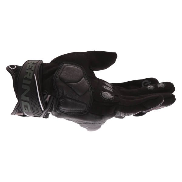 Bering Derreck Black Camo Motorcycle Gloves Little finger side