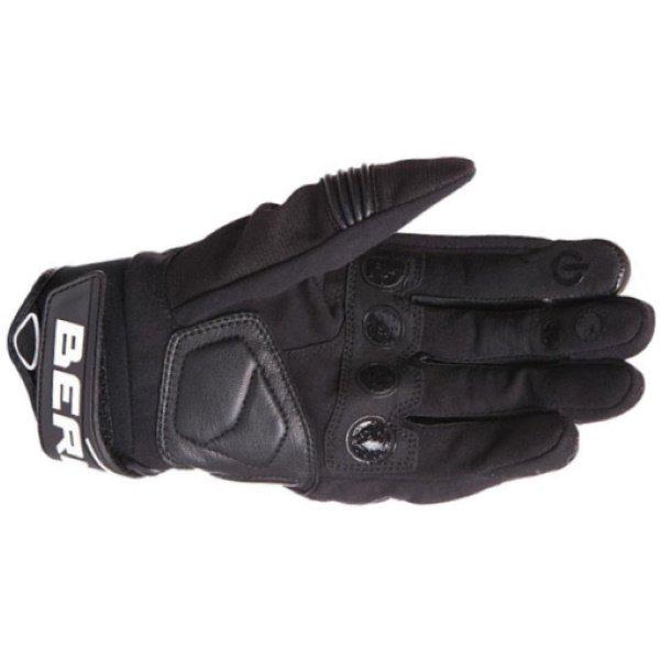 Bering Dereck Black Motorcycle Gloves Palm