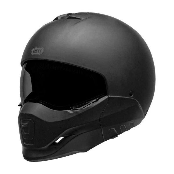 Bell Broozer Matt Black Full Face Motorcycle Helmet Front Left