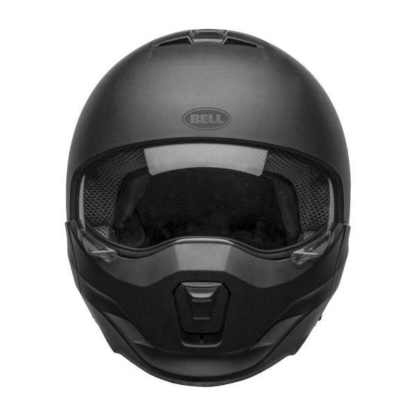 Bell Broozer Matt Black Full Face Motorcycle Helmet With Sun Visor