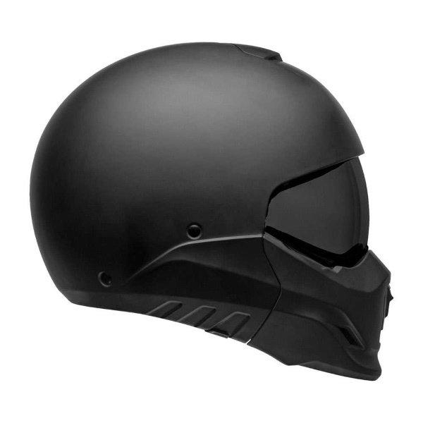 Bell Broozer Matt Black Full Face Motorcycle Helmet Right Side With Sun Visor