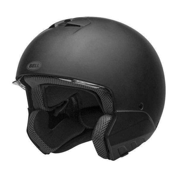 Bell Broozer Matt Black Full Face Motorcycle Helmet Without Chin Guard