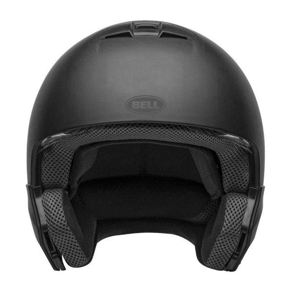 Bell Broozer Matt Black Full Face Motorcycle Helmet Front
